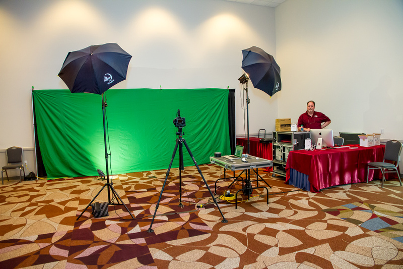 Houston Event Photography Green Screen Station